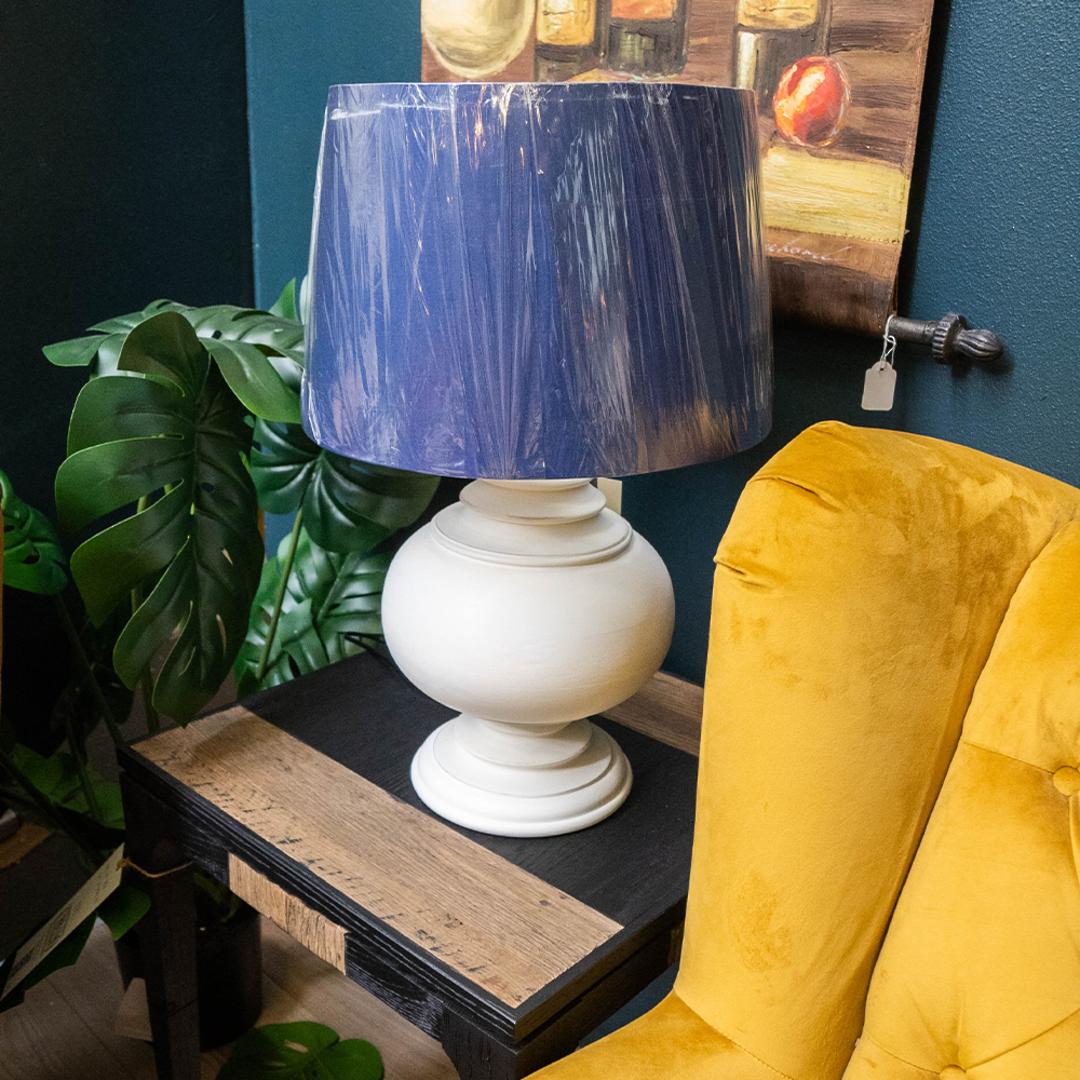 Blue Shade Table Lamp image 1