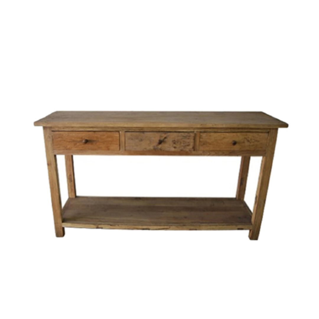 Console Table Recycled Elm 3 Drawer image 0