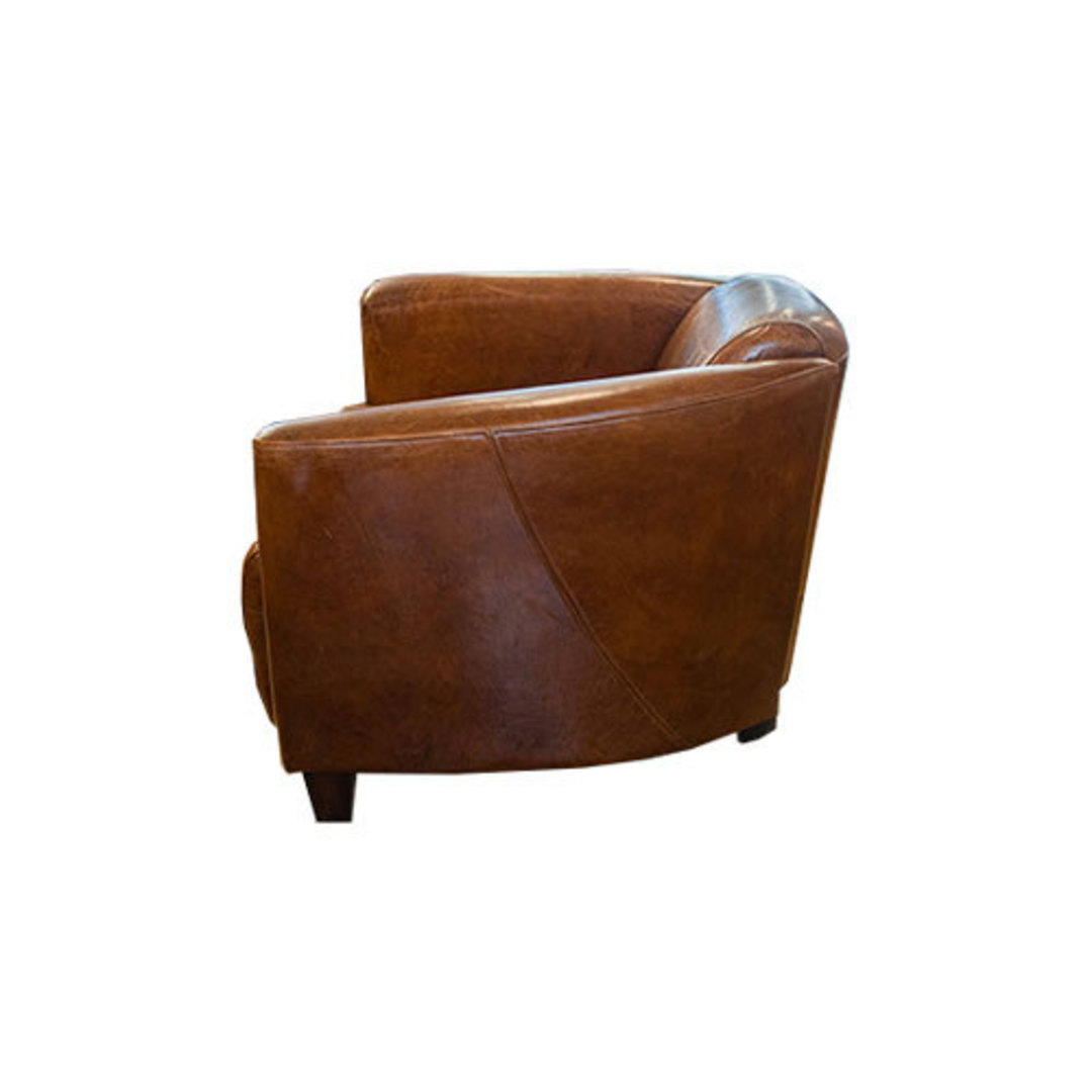 Manchester Aged Italian Leather Chair image 2