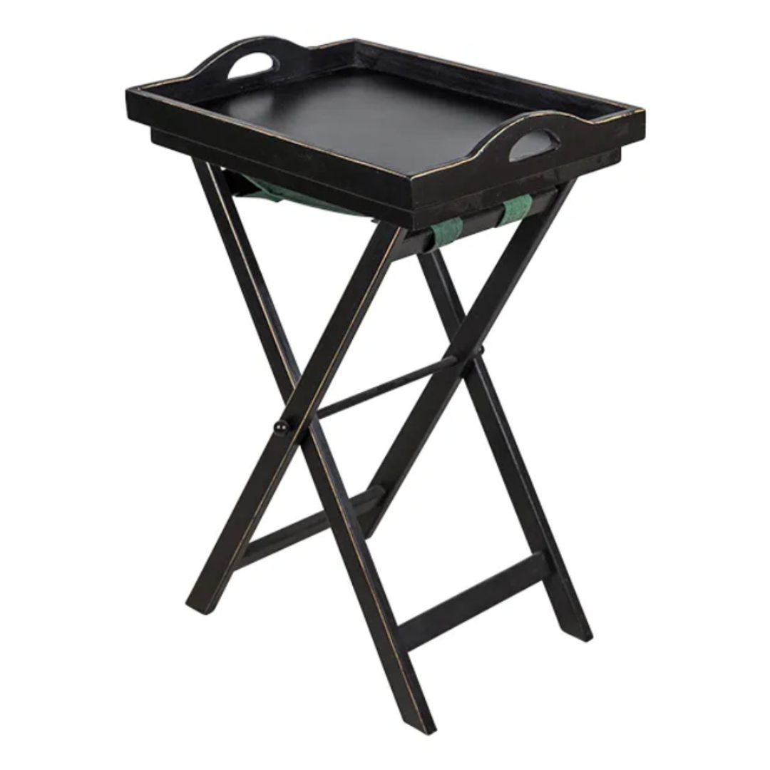 Black Wooden Tray Table image 0