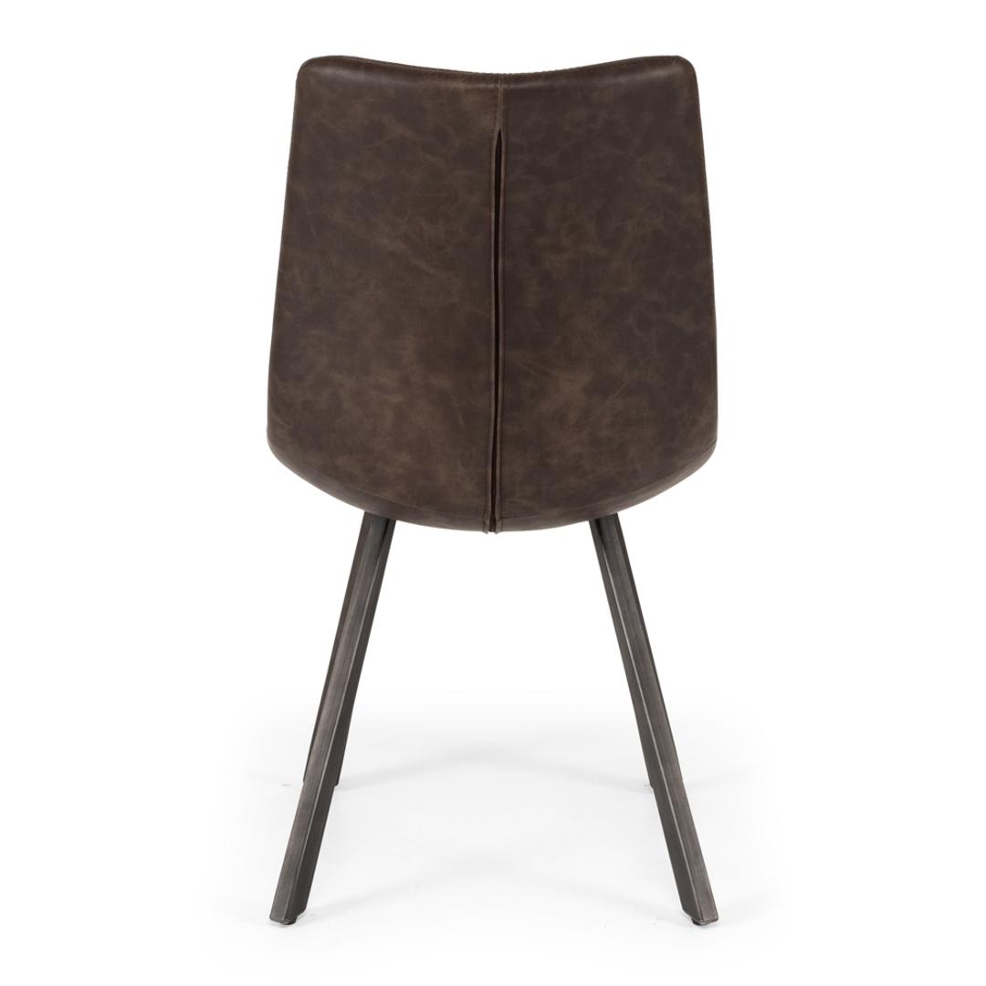 Rustic Chair Vintage Dk Brown PU image 3