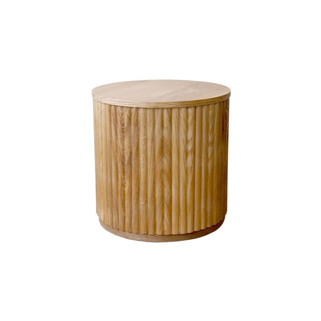 Sanctuary Oak Ribbed Side Table image 0