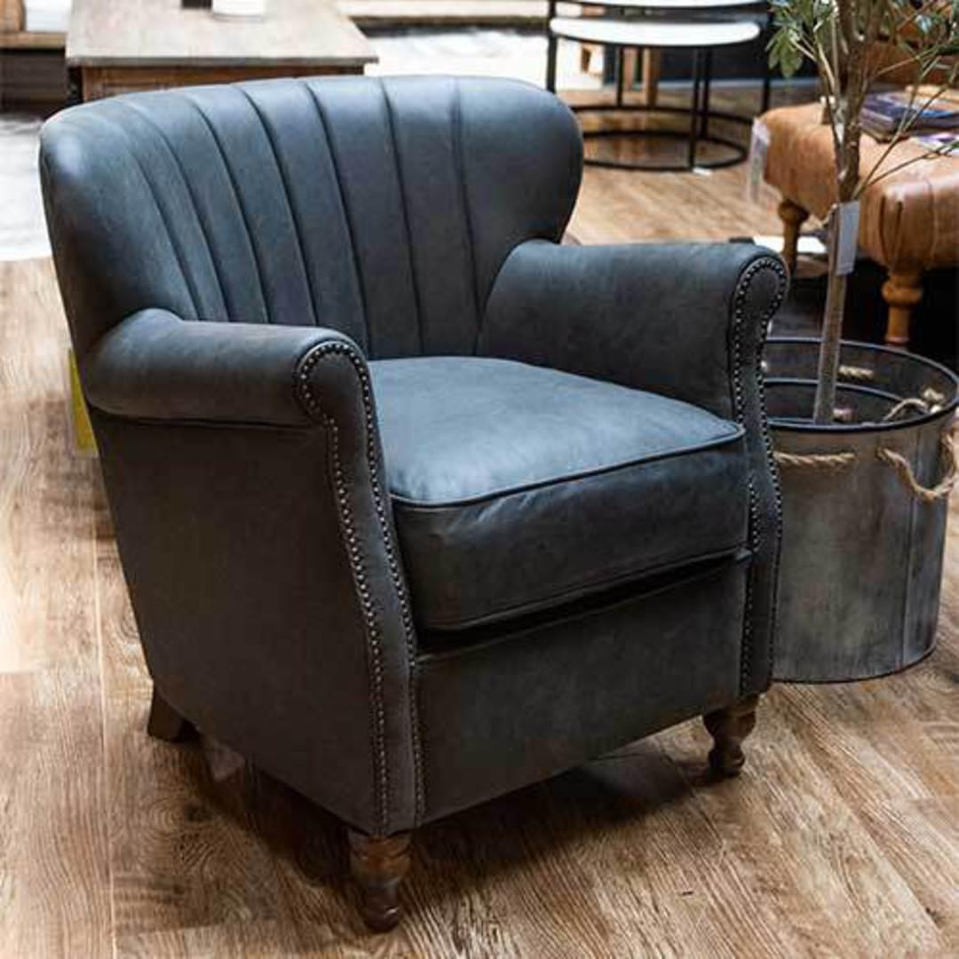 Percy Chair Plush Velvet Charcoal image 6