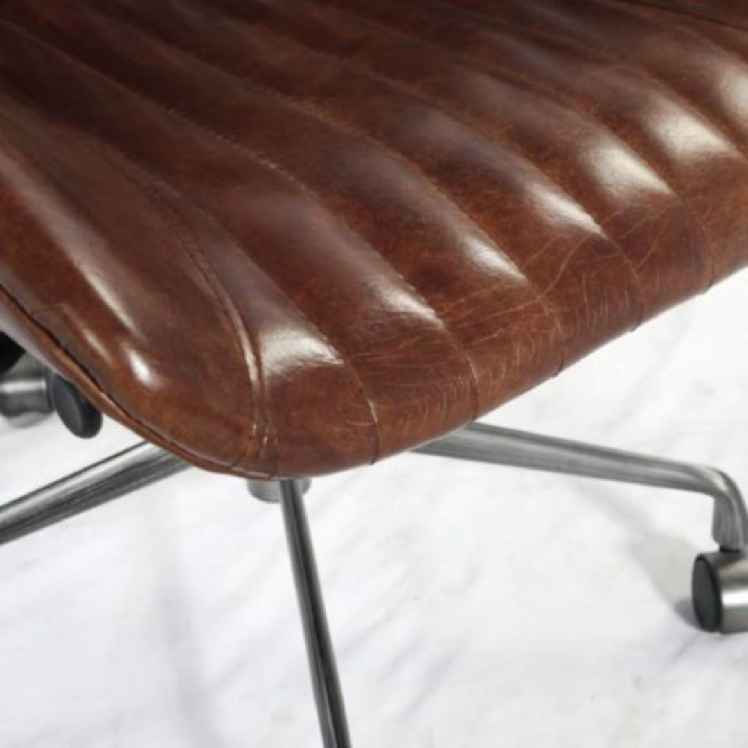 Gloucester Vintage Leather Office Chair Height Adjustable image 7