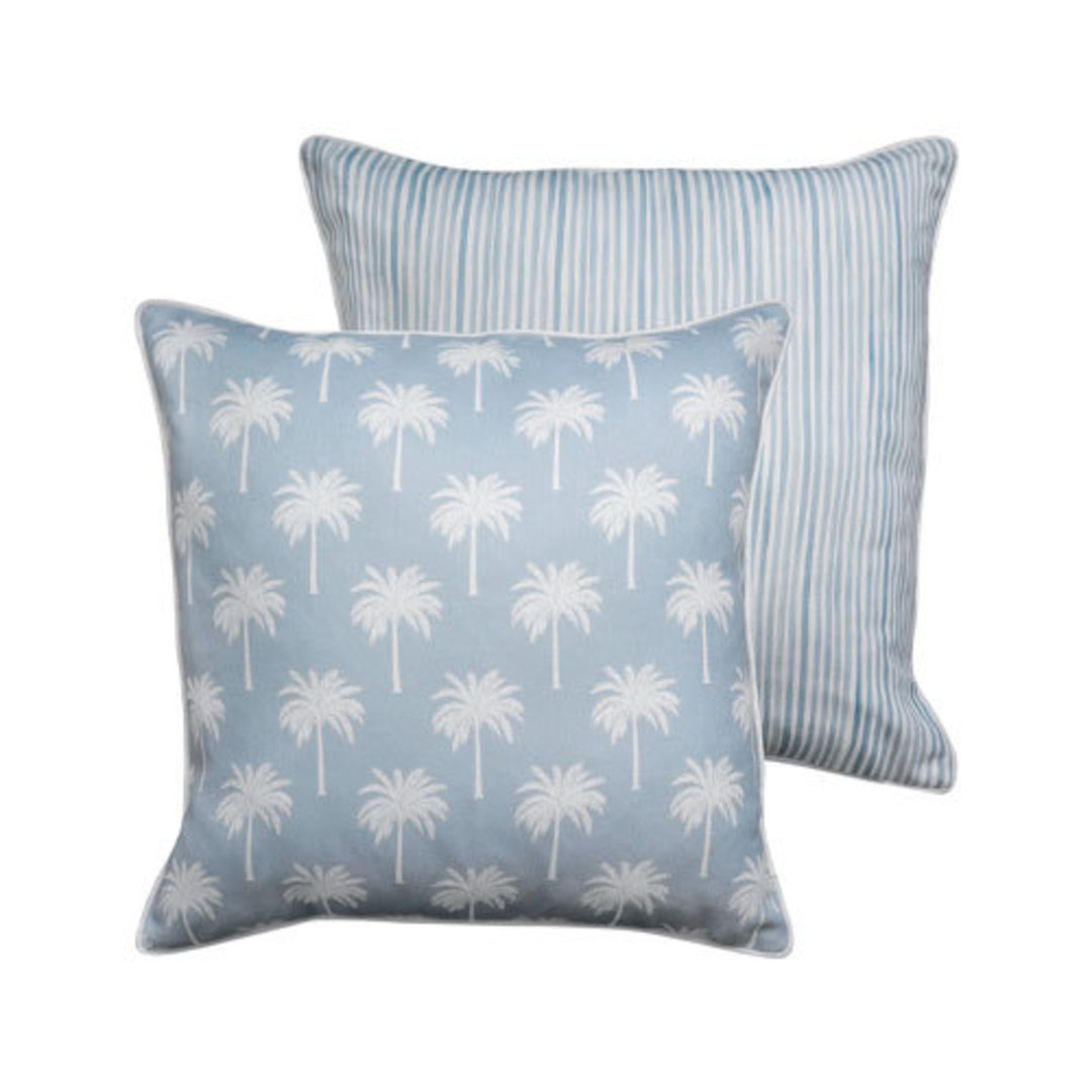Tropic Light Blue Reversible Cushion image 0
