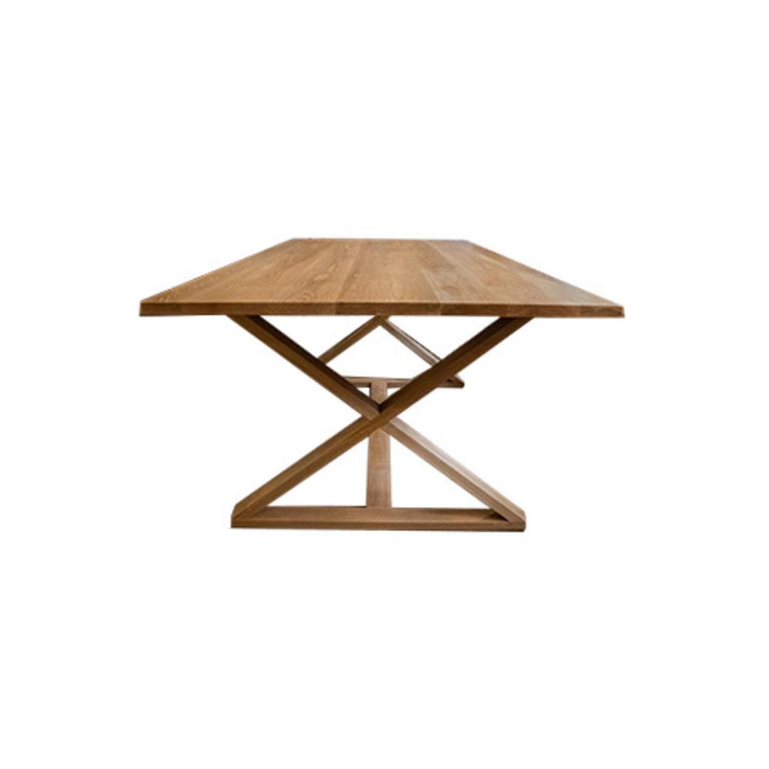 Oakleigh X-Leg Oak Table 2M image 2