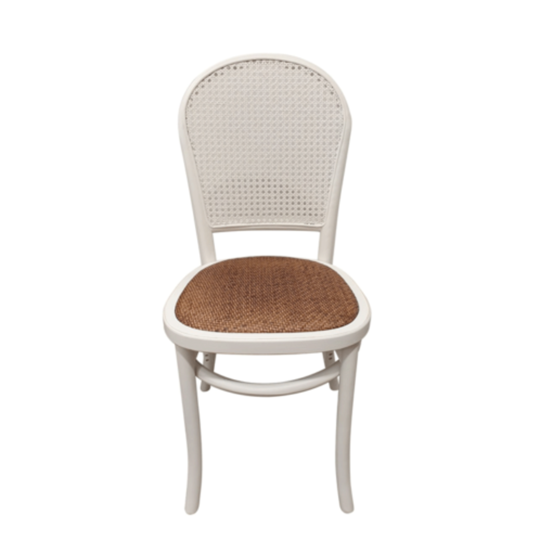 Meshach Rattan and Oak Dining Chair White image 1