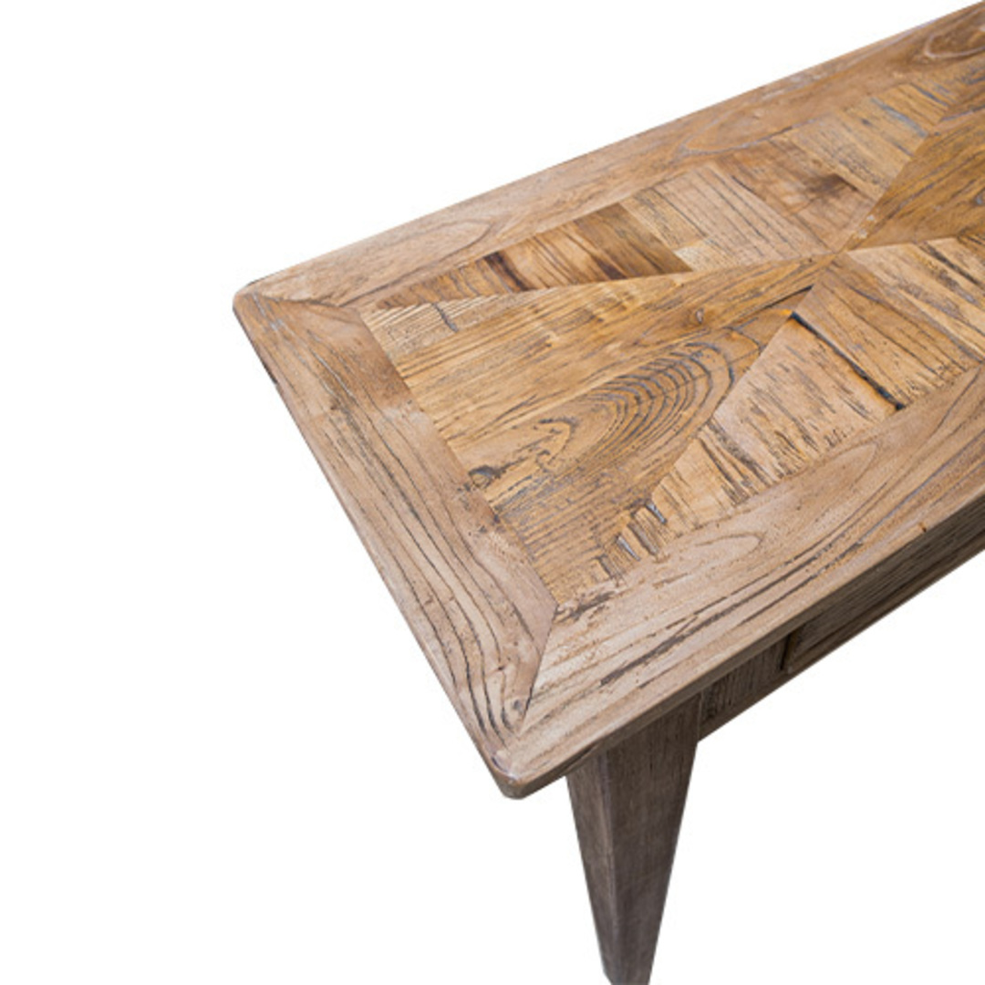 Recycled Elm 2 Drawer Hall Table image 3
