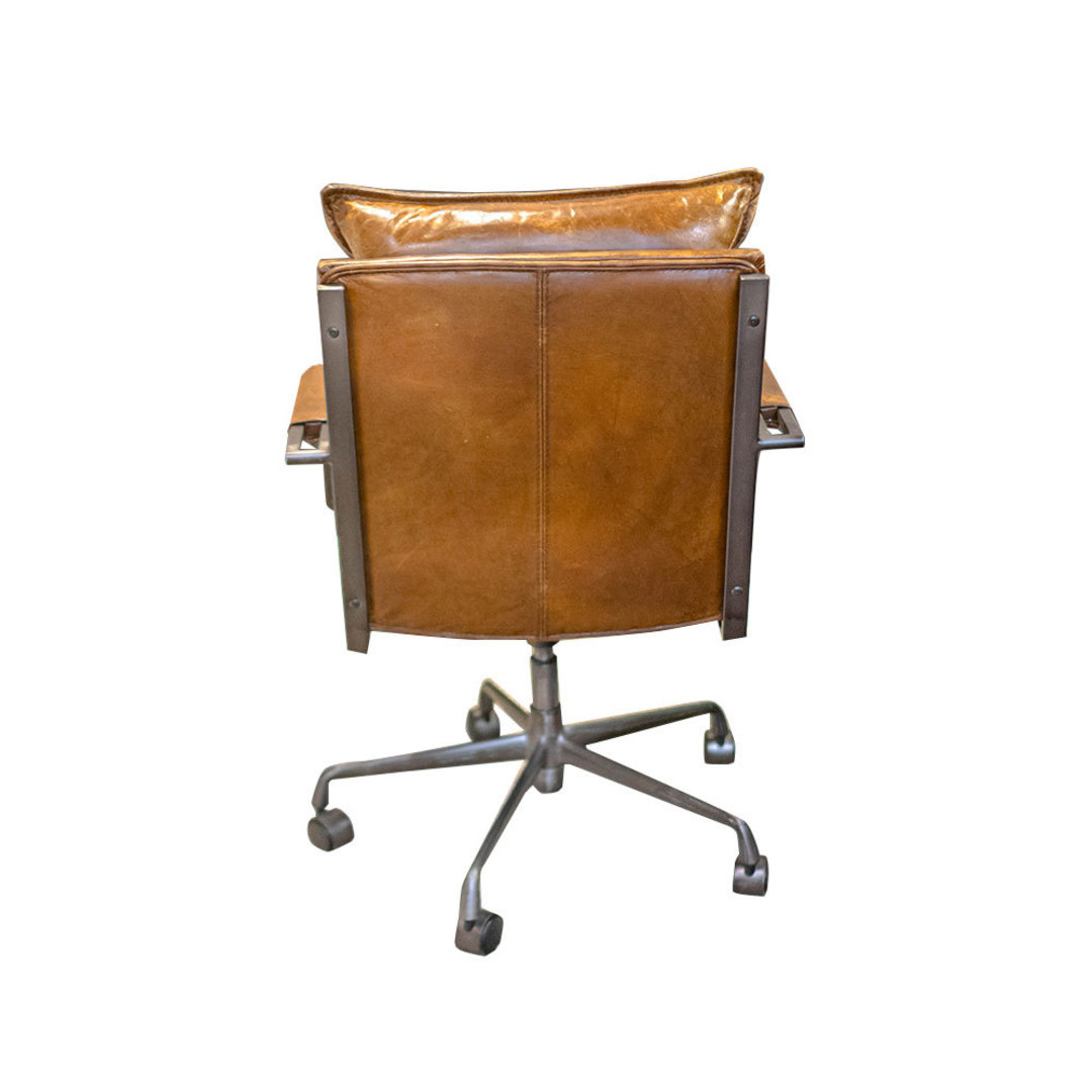 Hereford Vintage Leather Office Chair Height Adjustable image 2