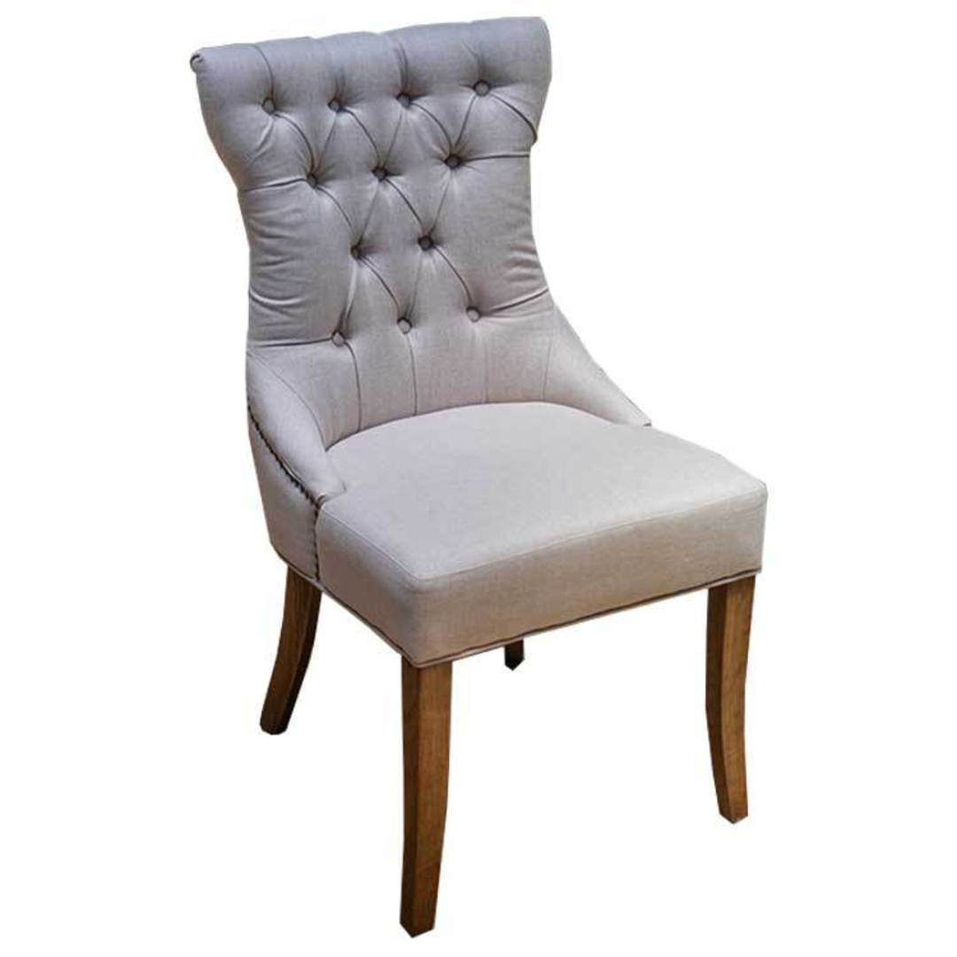 York Linen Dining Chair image 0