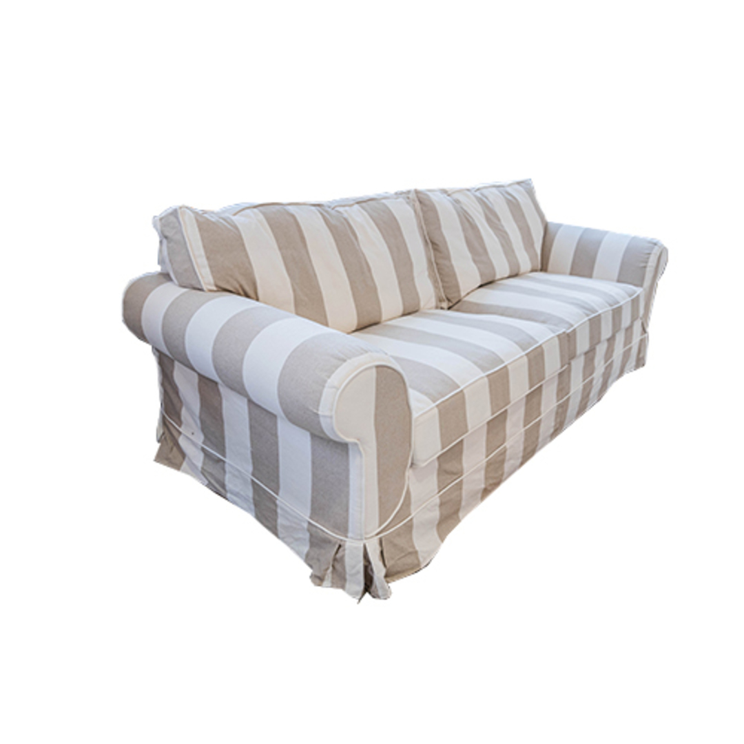 Isla Feather Filled 3 Seater Sofa Striped Natural image 1