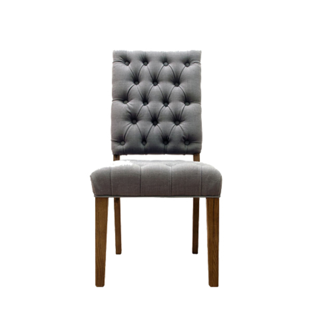 Casa Dining Chair Linen Frost Grey image 0