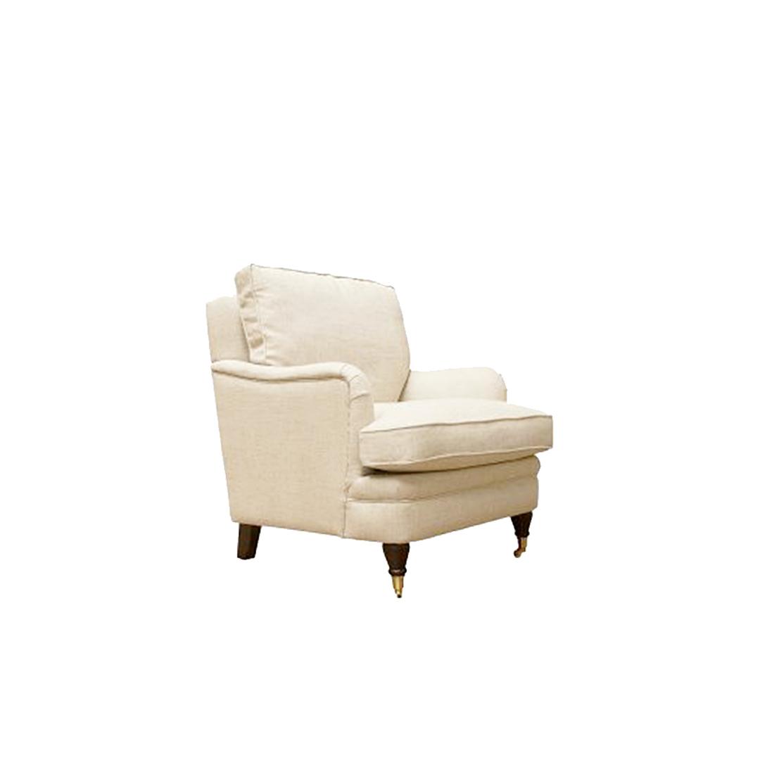 Victoria Chair Belgium Linen - Cream image 0