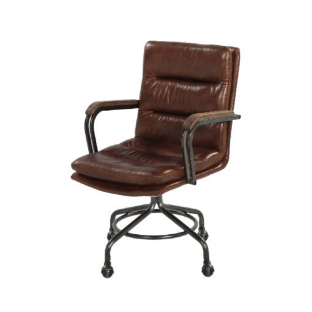 Newcastle Vintage Leather Office Chair image 3