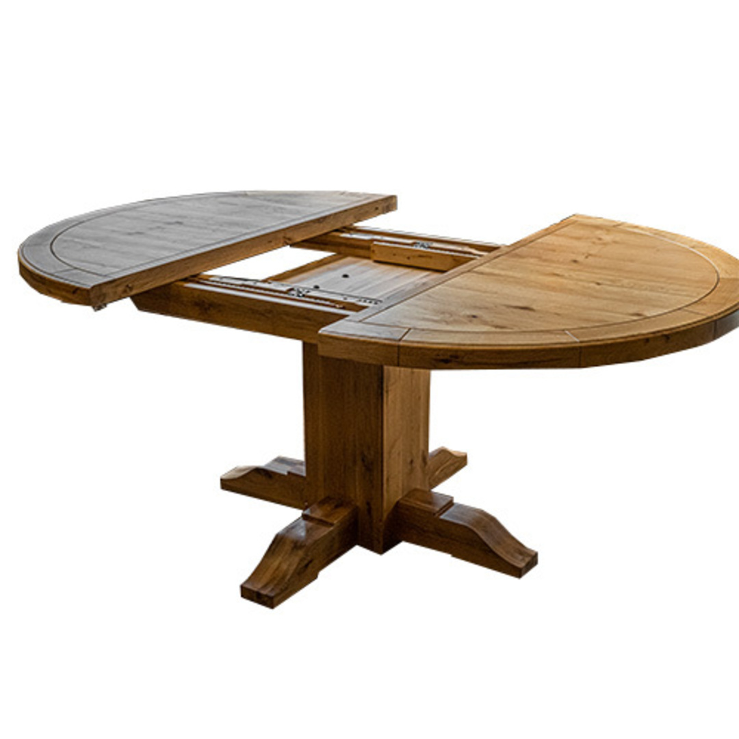 Oak Round Extension Table image 4