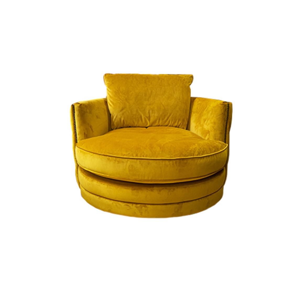 Roxy Twister Chair Plush Turmeric image 1