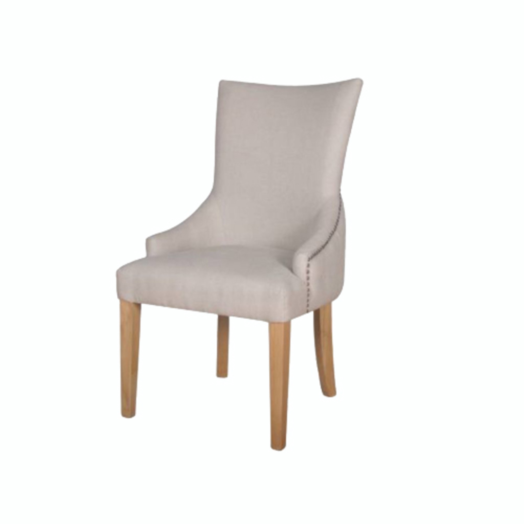 Charleston Dining Chair Natural Linen image 0