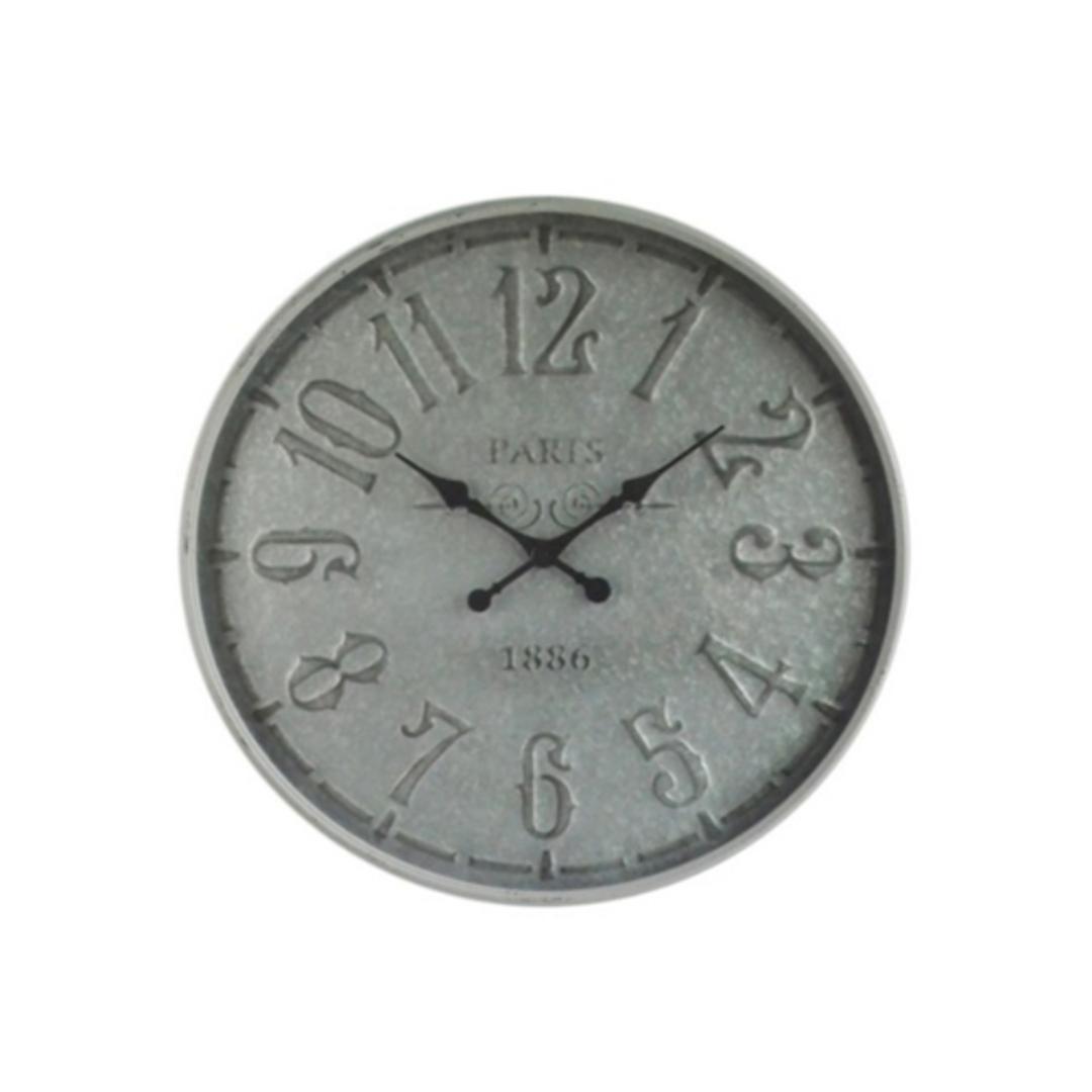 Old Town Metal Wall Clock - Antique Metal image 0