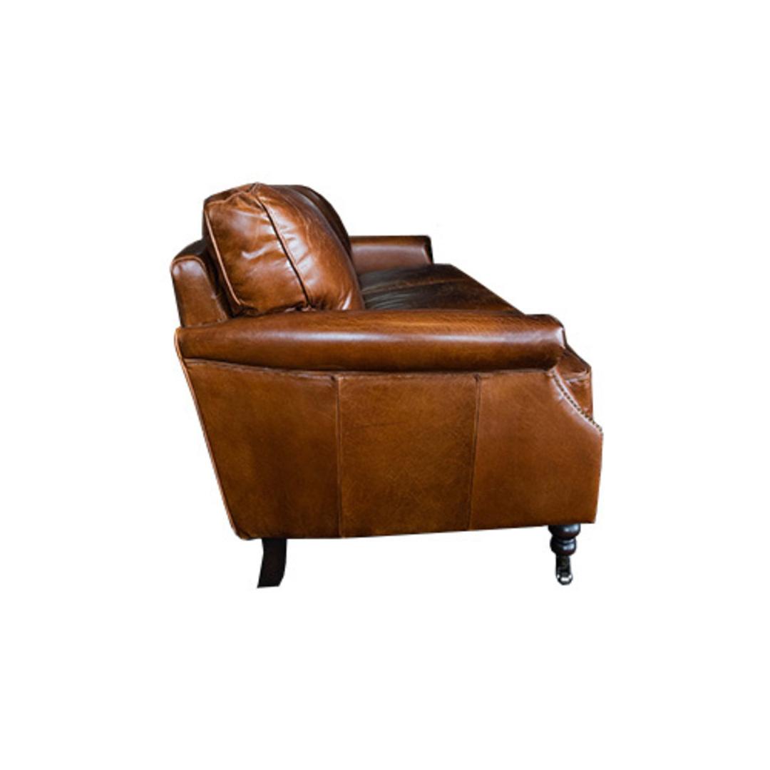 Sandringham Aged Italian Leather 3 Seater image 2
