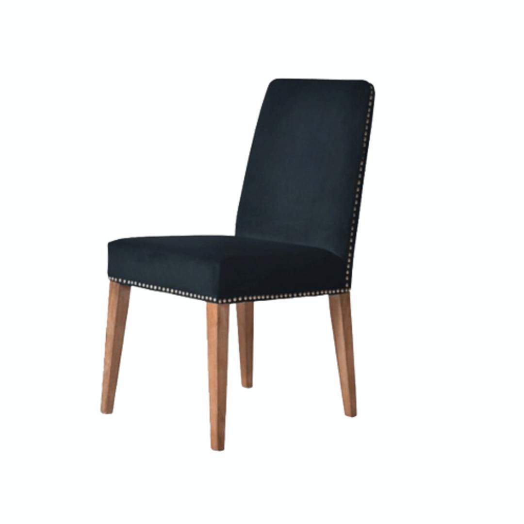 Pascal Dining Chair Navy Blue Velvet image 0