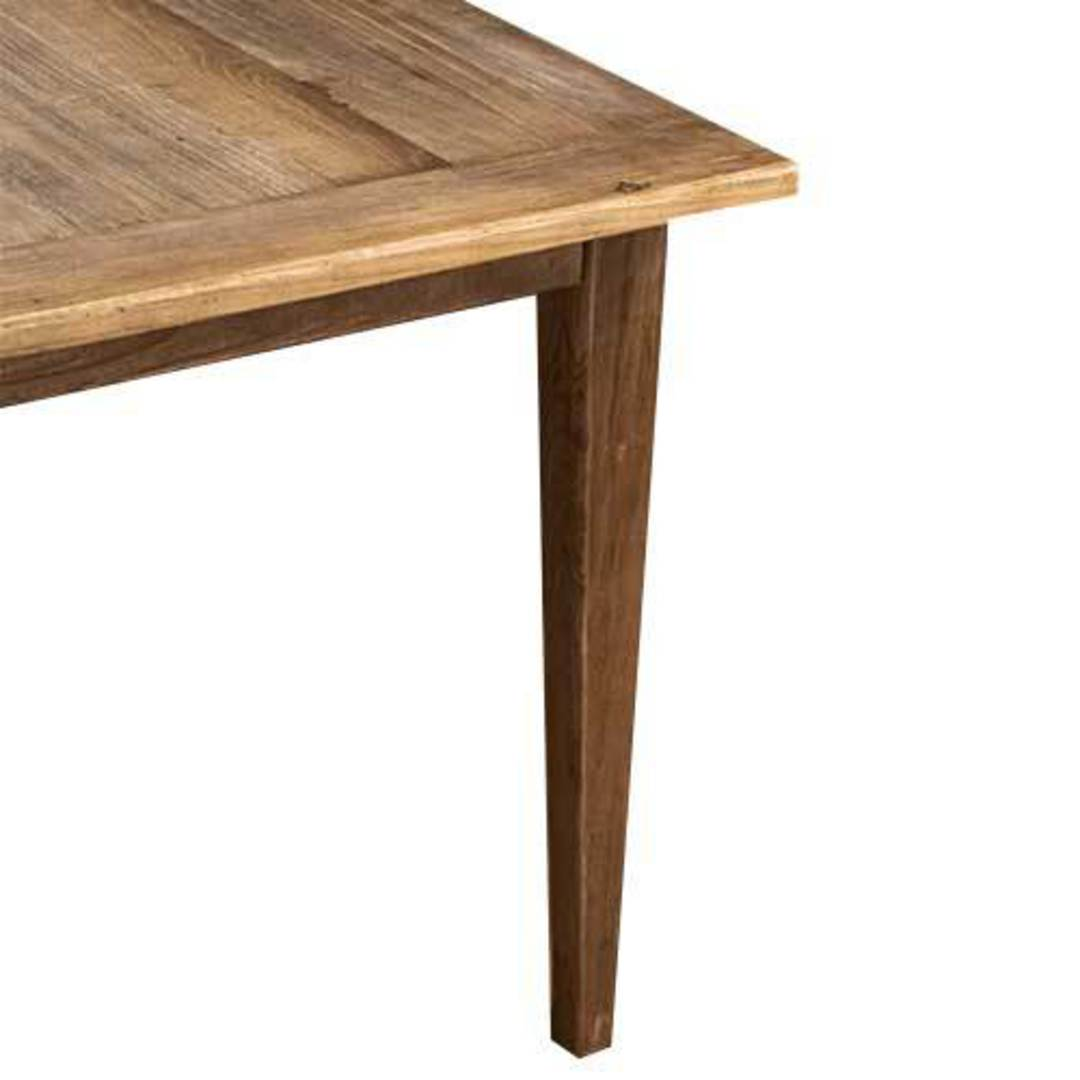 French Dining Table Reclaimed Elm 1.5M image 3