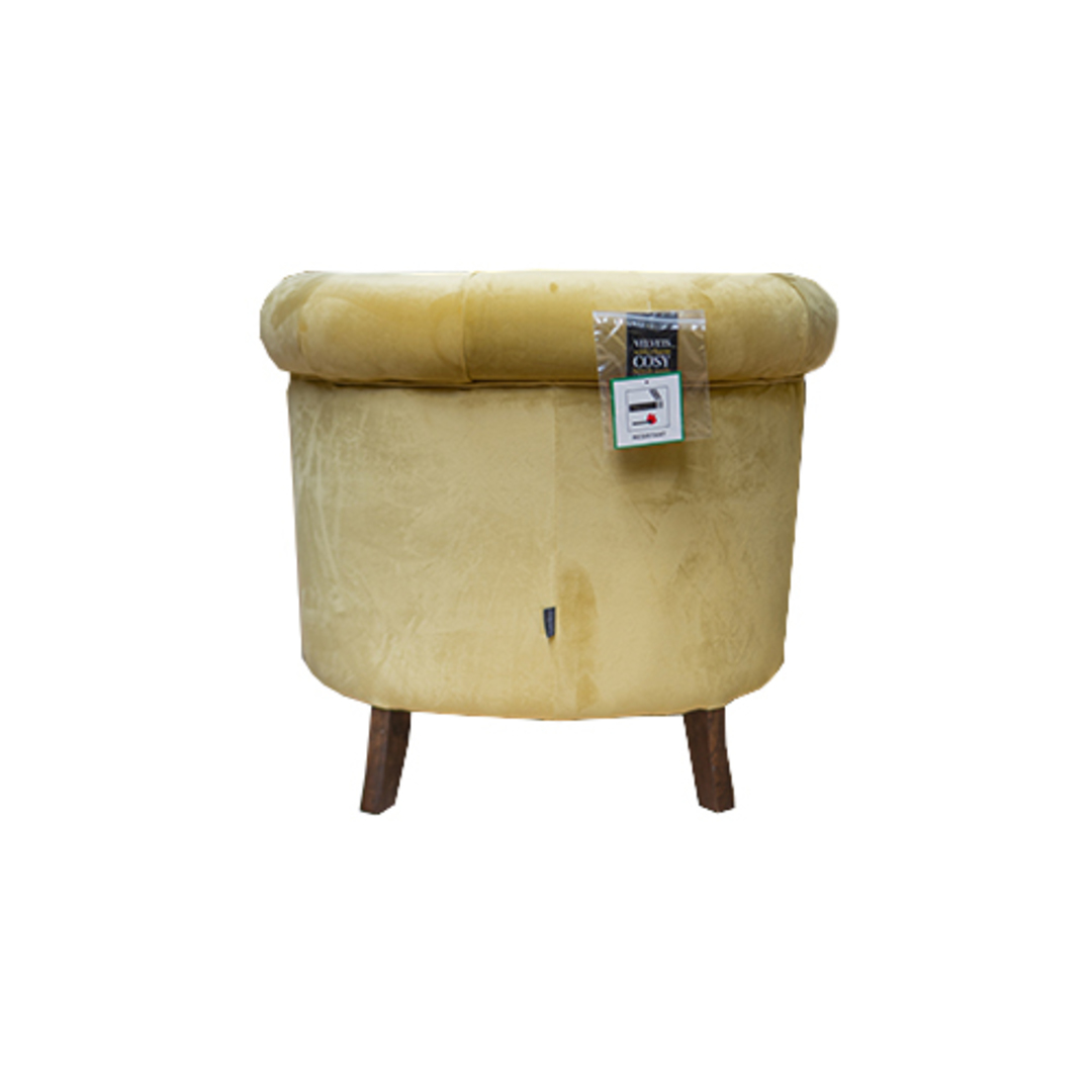 Jude Chair Plush Velvet Yellow image 2