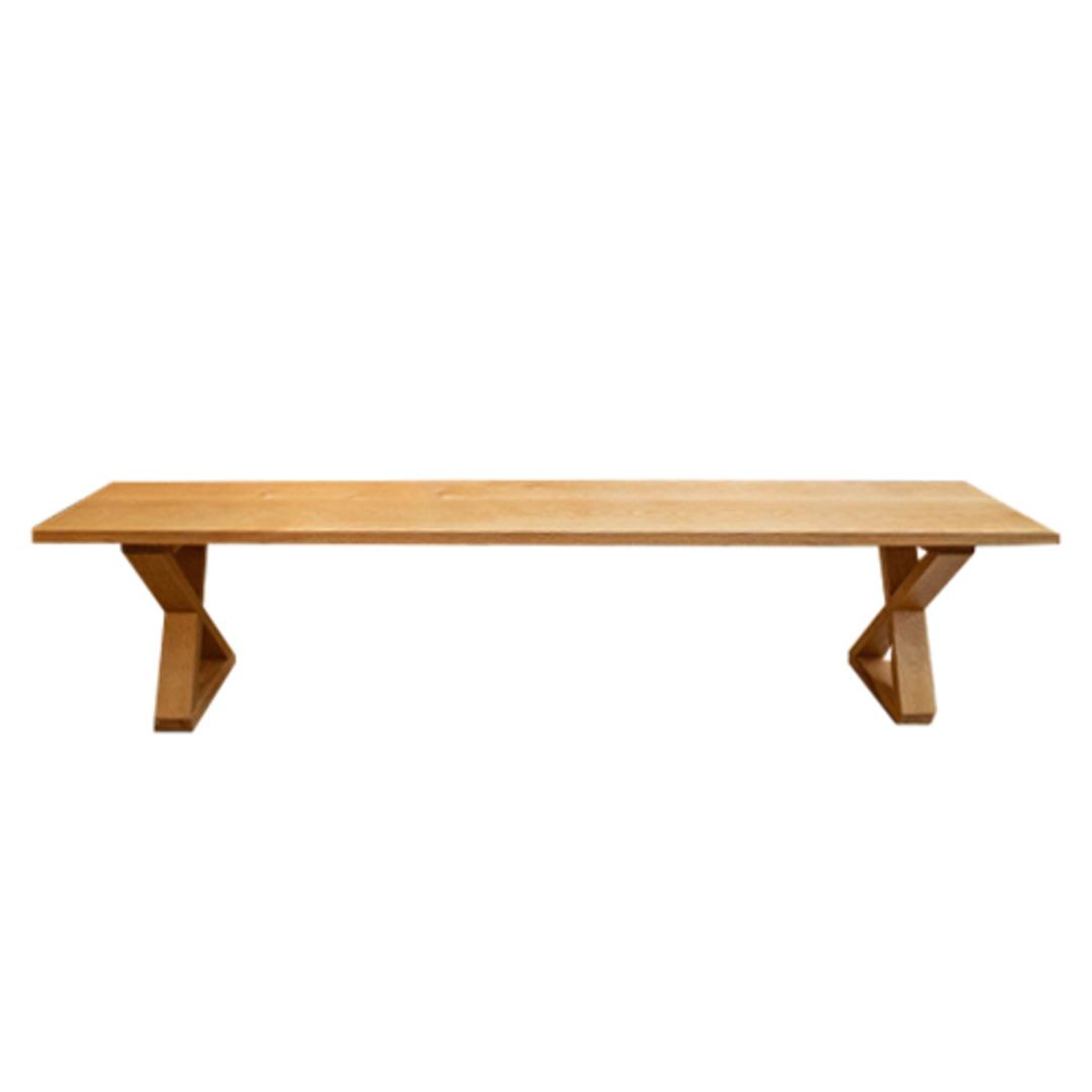 American Oak X-Leg Bench Seat NZ Made image 1