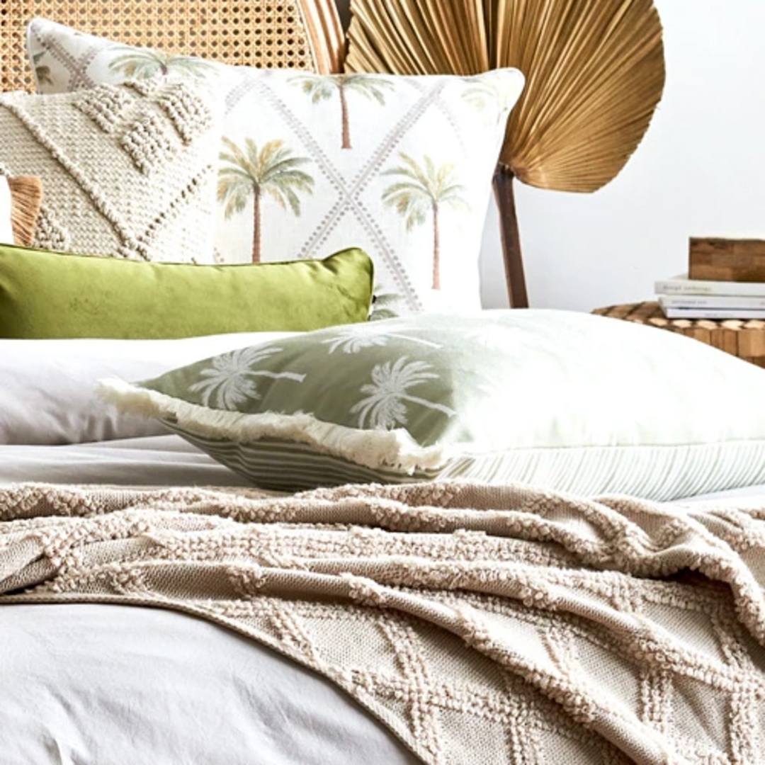Tropic Reversible Light Green Cushion image 1