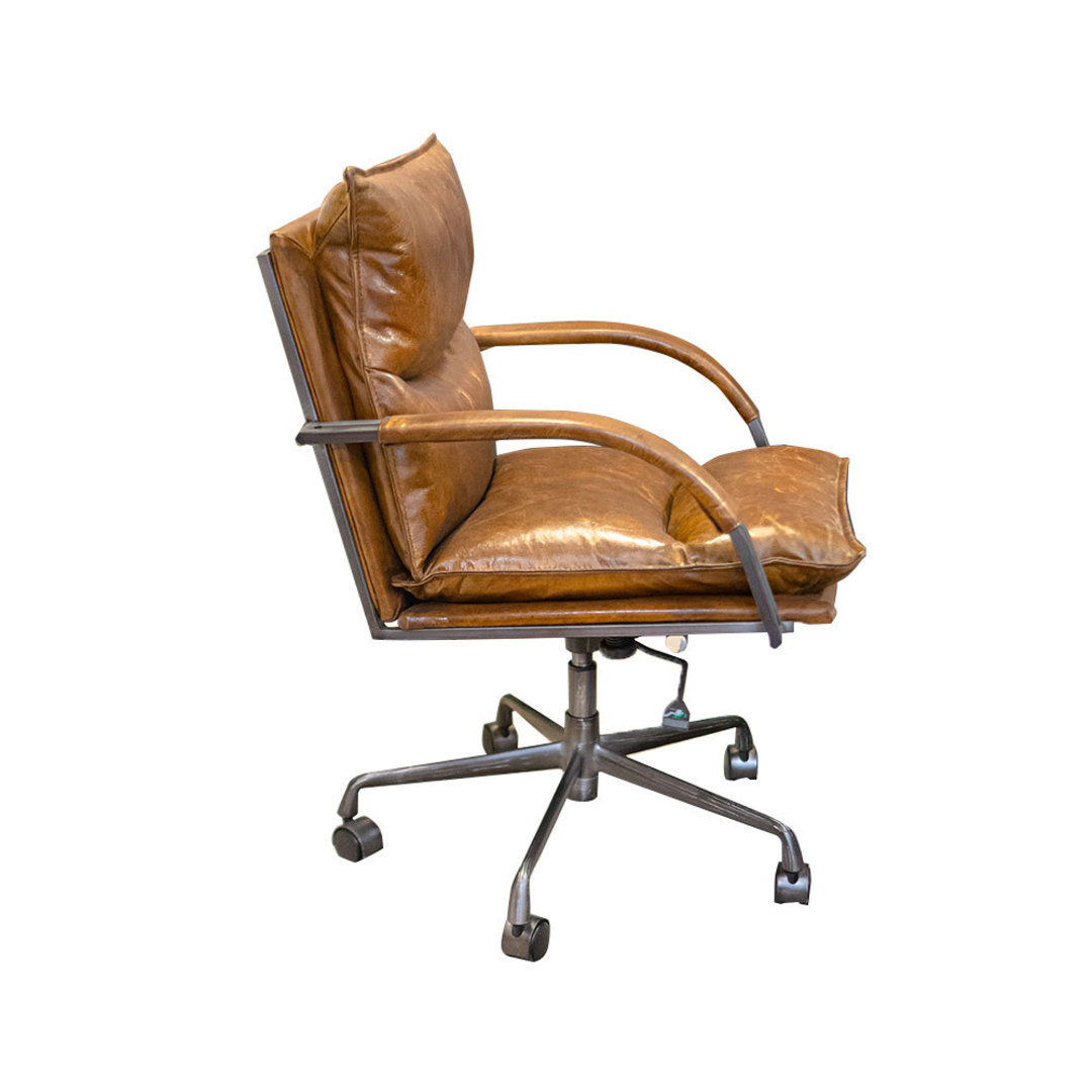 Hereford Vintage Leather Office Chair Height Adjustable image 1