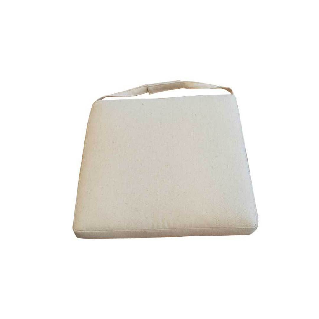 Linen Seat Cushion Feather Filled For Cross Chair image 0