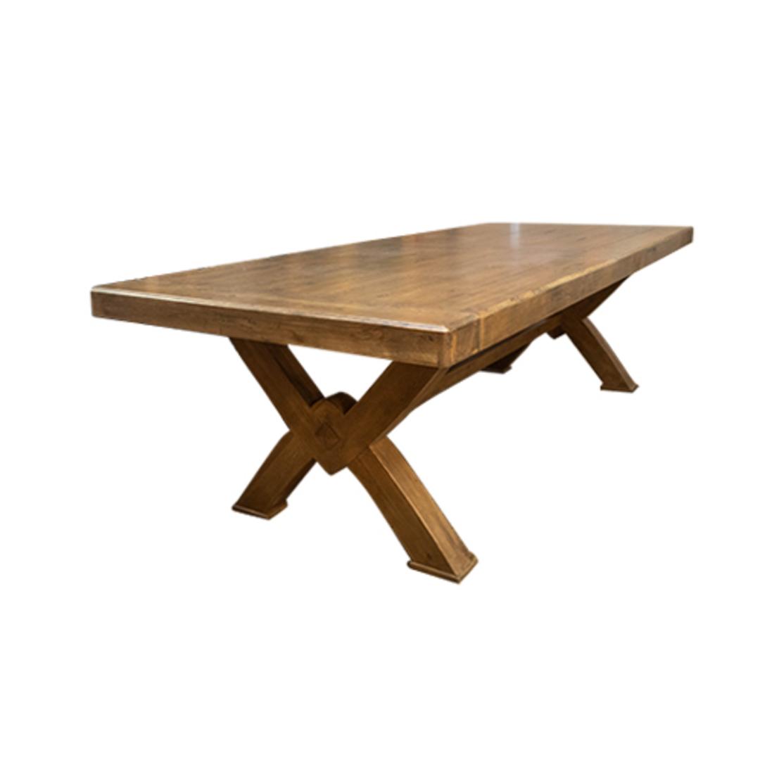 Antique Light Oak Chateau Table 2.4M image 0