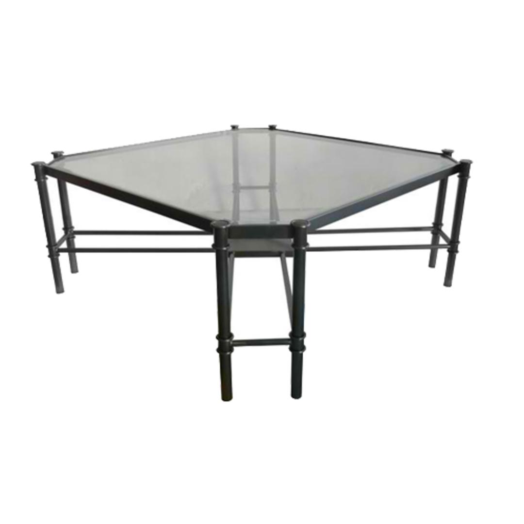 Coffee Table Jade - Gun Metal Stainless Steel and Glass image 1