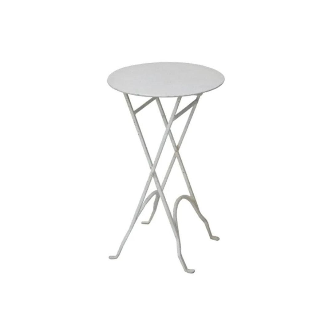 Round Narrow Side Table Metal image 0
