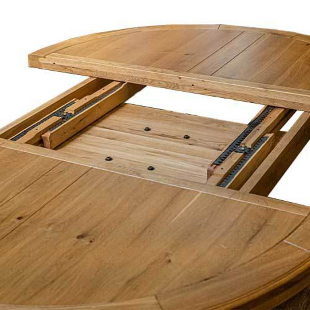 Oak Round Extension Table image 5