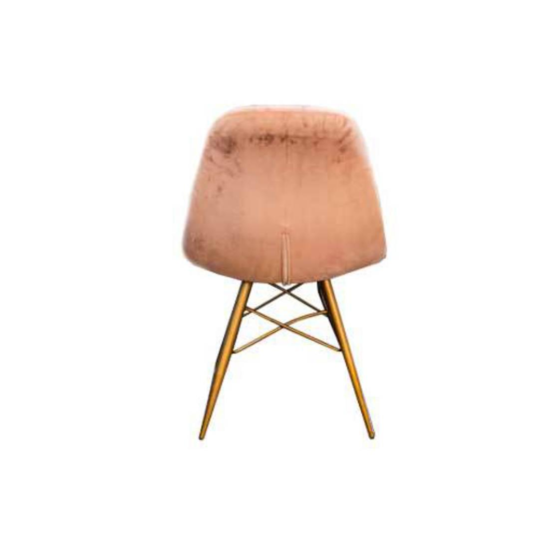 Naples Dining Chair Plush Pink Velvet image 2