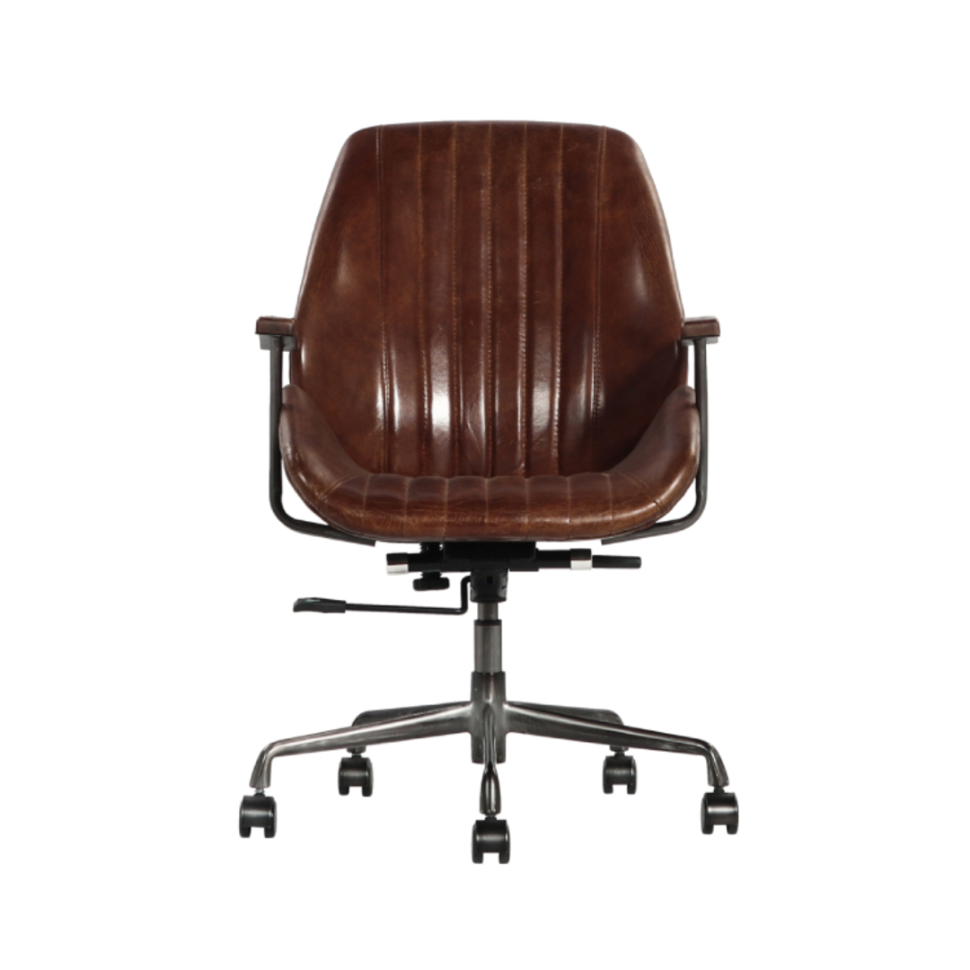 Gloucester Vintage Leather Office Chair Height Adjustable image 1