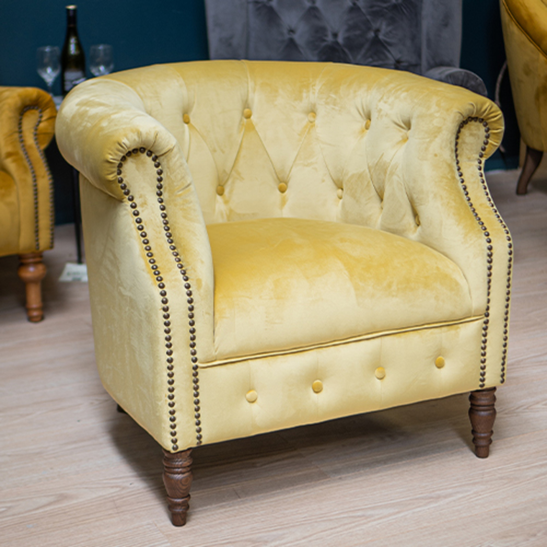 Jude Chair Plush Velvet Yellow image 3