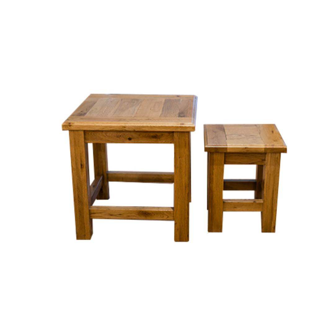 Oak Nest Tables Set 2 image 0