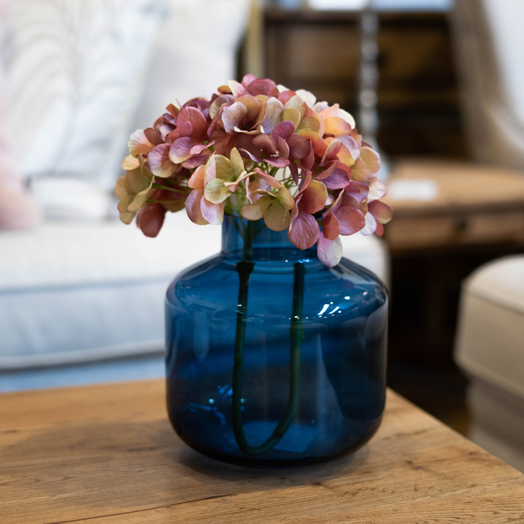 Ankara Colored Glass Vase - Navy image 1