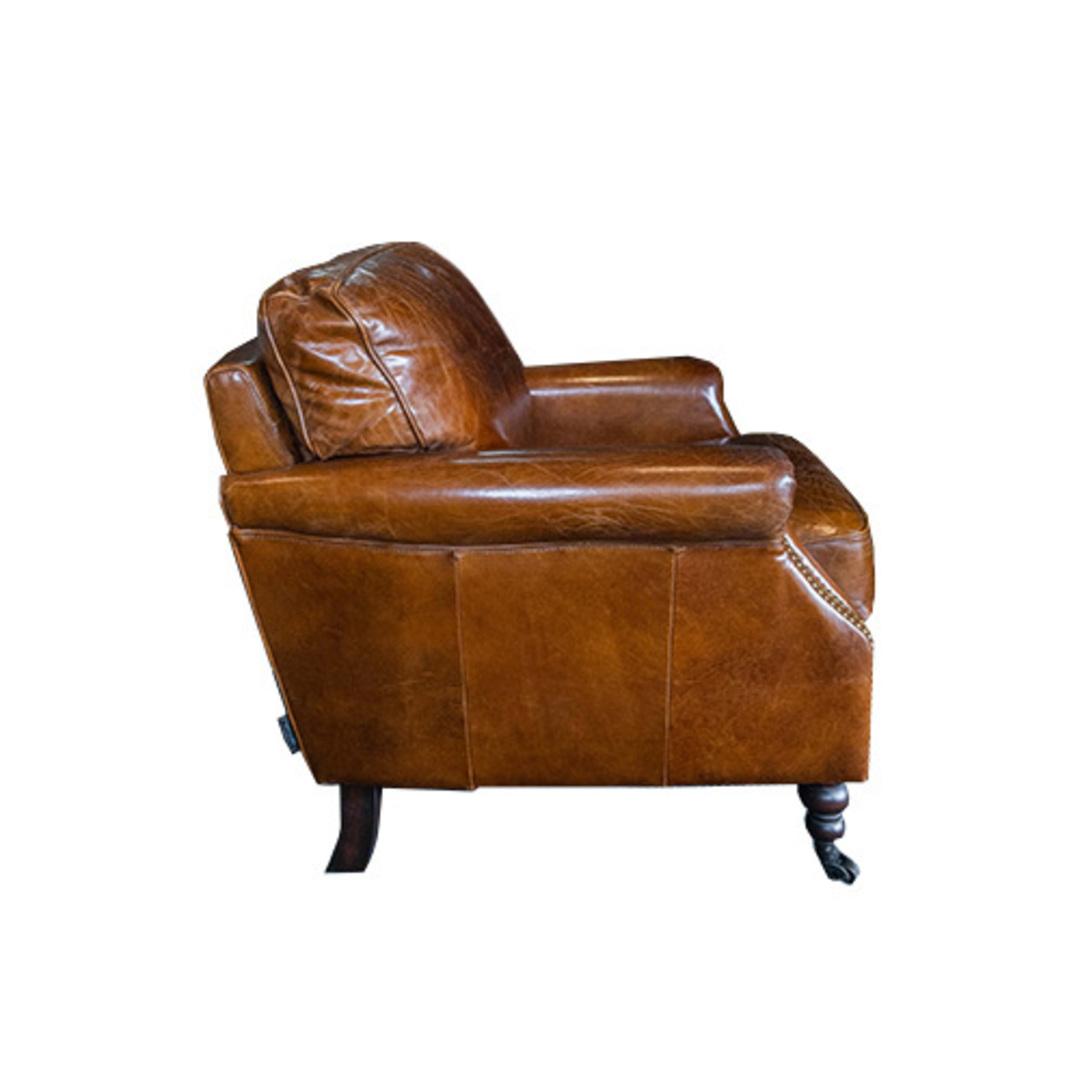 Sandringham Aged Italian Leather Armchair image 2