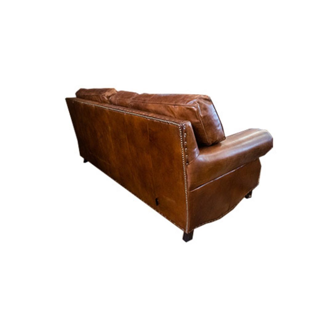 Churchill Aged Italian Leather 3 Seater image 2