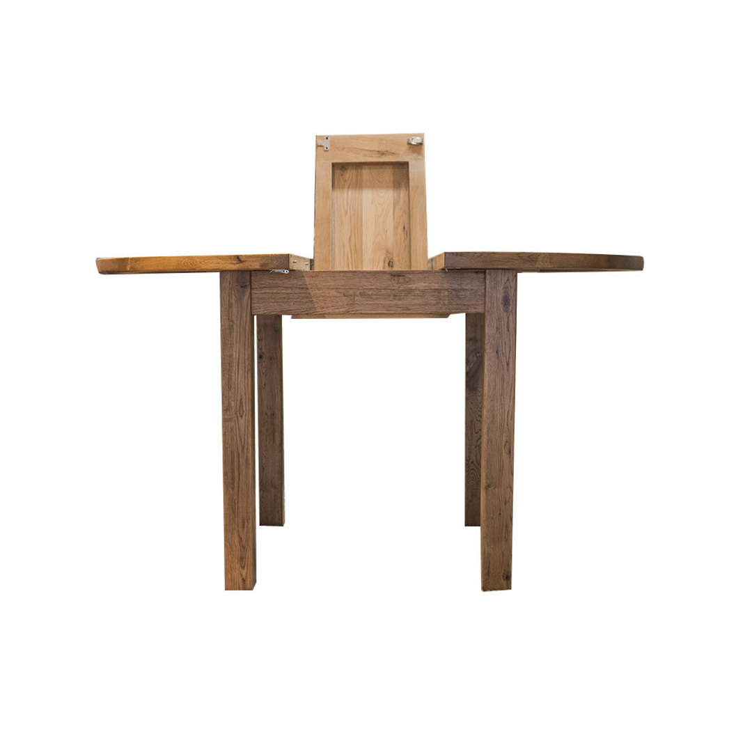 Oak Round Extension Dining Table 106cm image 2
