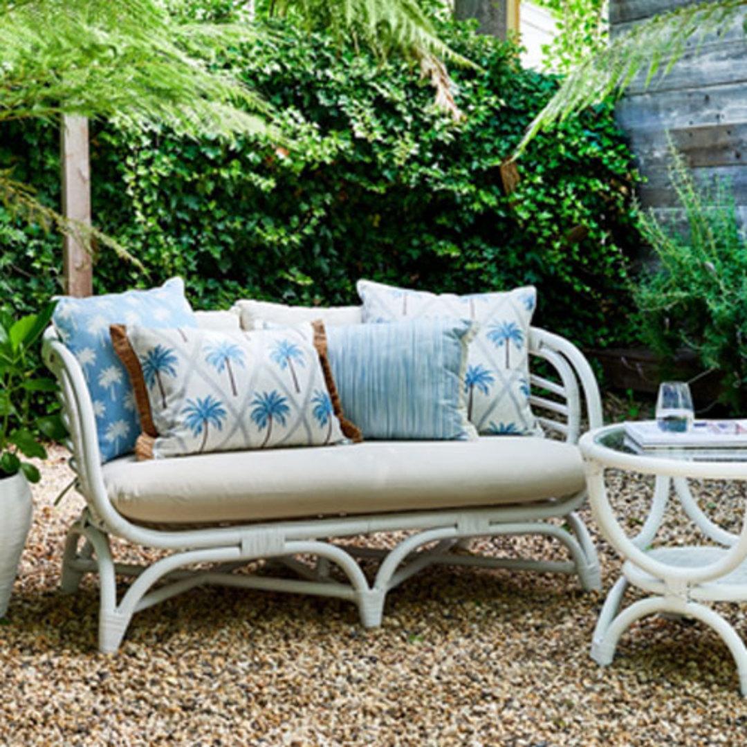 Tropic Light Blue Reversible Cushion image 1