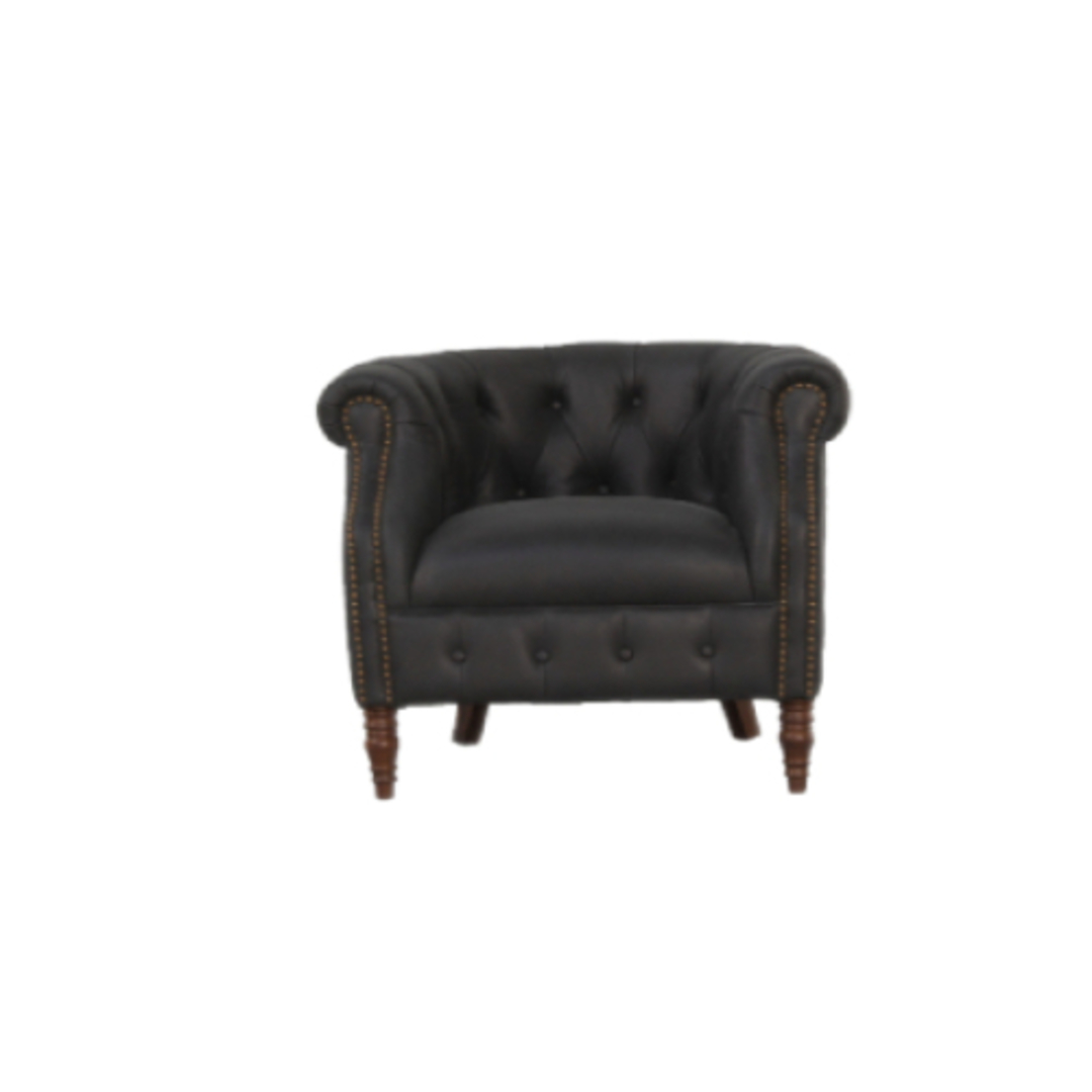 Jude Chair Leather Charcoal image 0