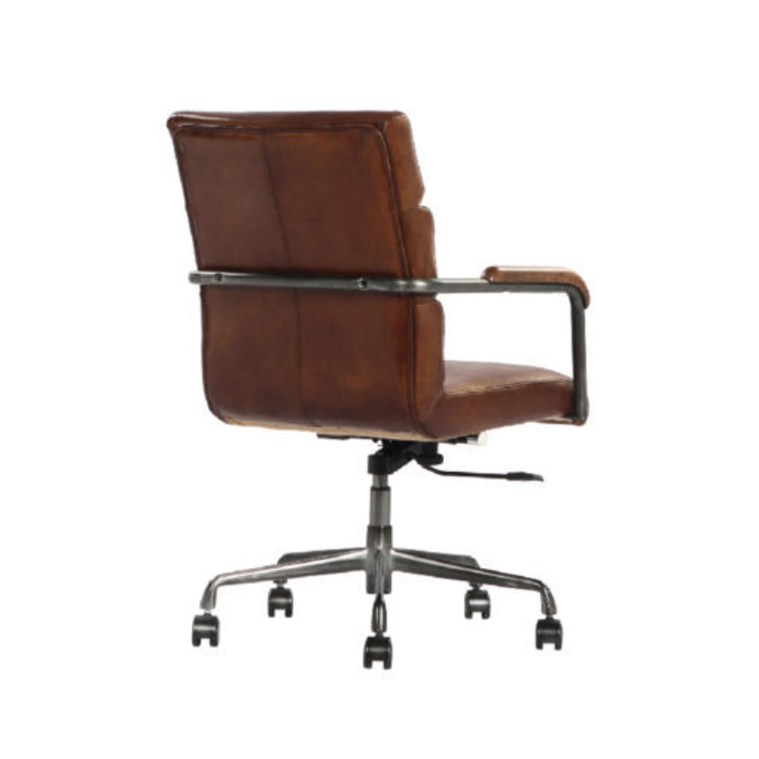 Hagley Vintage Leather Office Chair image 3