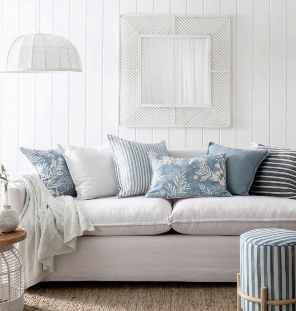 Clover Blue Lumbar Cushion image 1