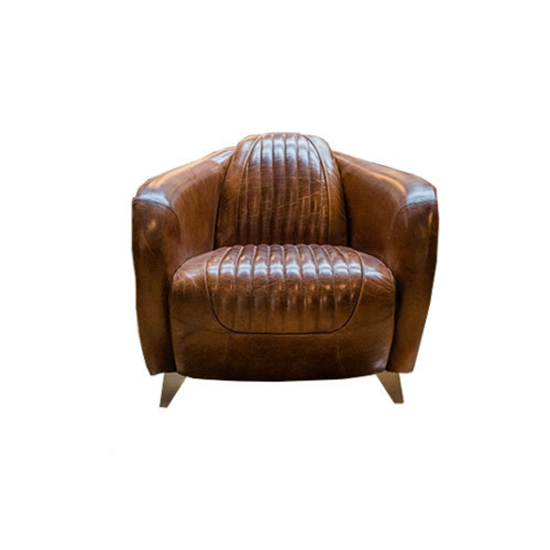 Lancaster Aged Italian Leather Chair image 1