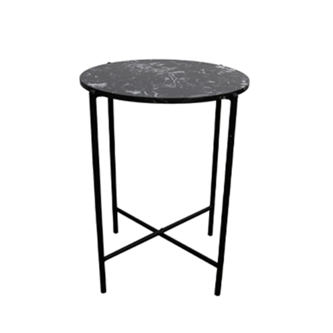Crete Side Table Black Marble image 0