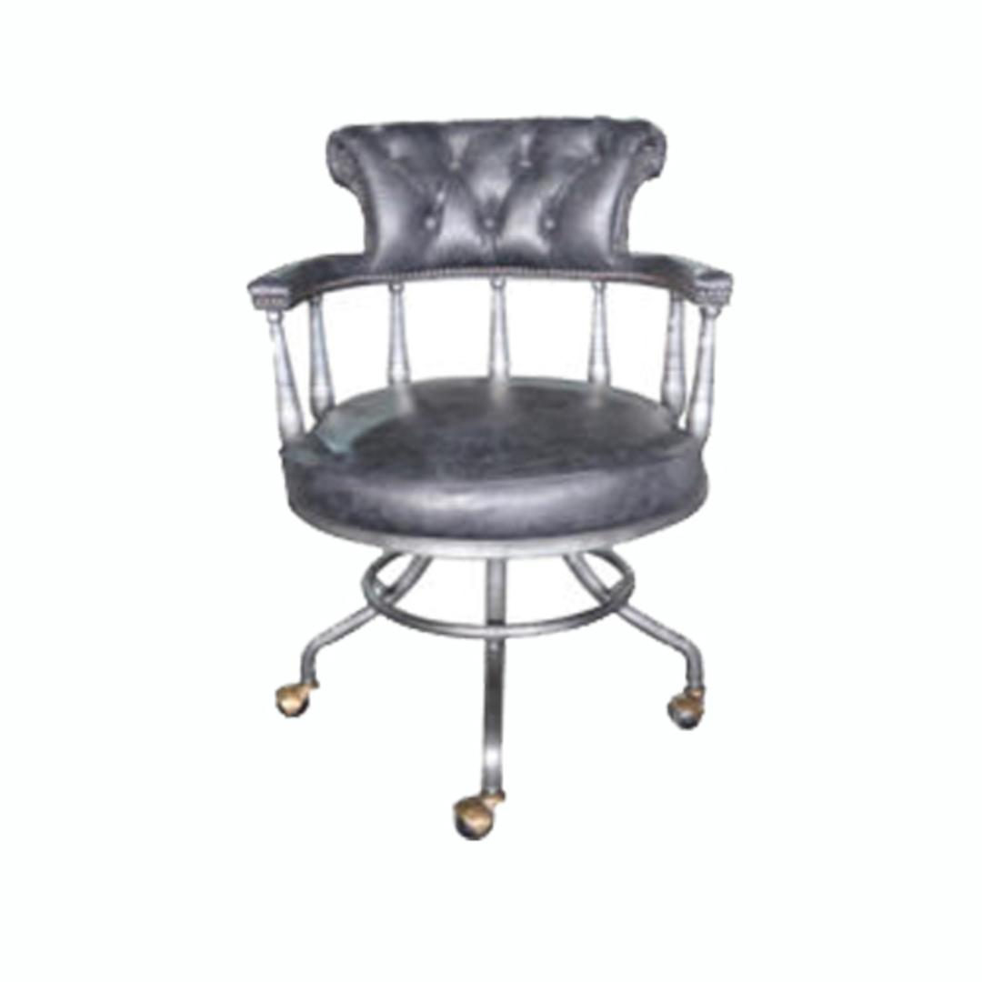 Captains Vintage Leather Office Chair Black image 0