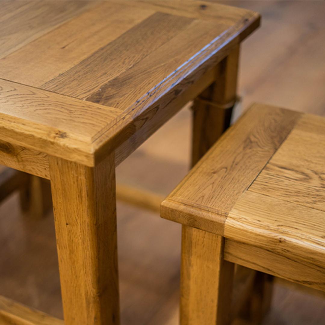 Oak Nest Tables Set 2 image 4
